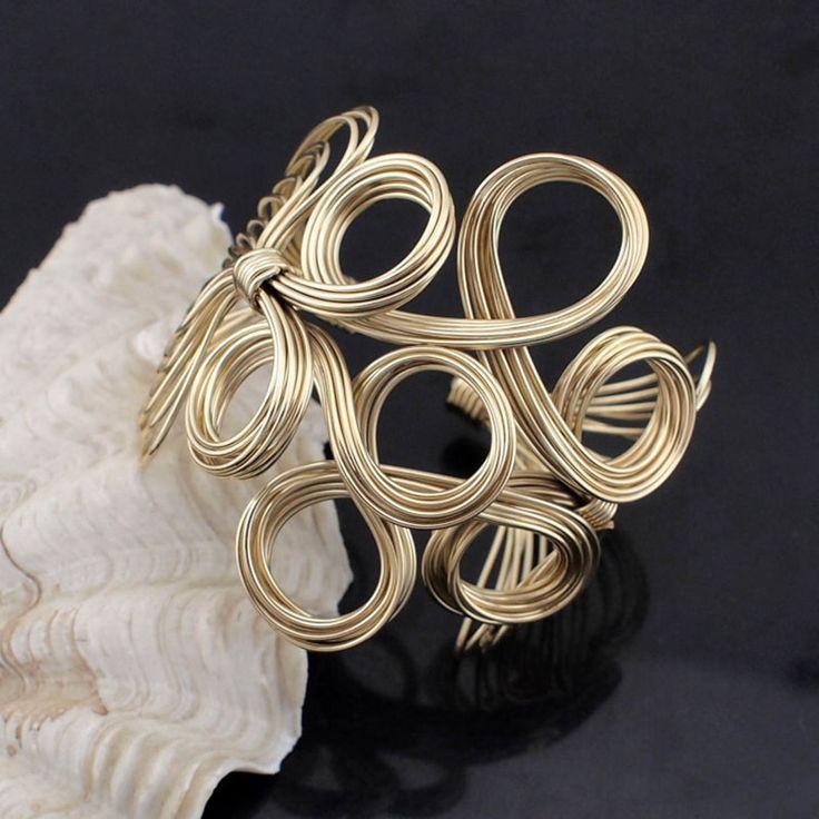 Big Cuff Bangle For Women 2016 Iron wire Weave Opened Alloy Bangles Bracelets Manchette Fashion Jonc Statement Jewelry BL319