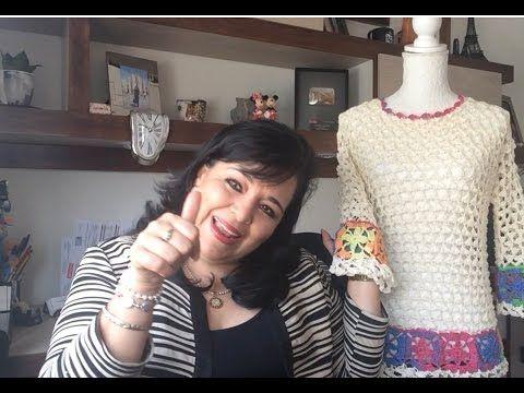 TEJE BLUSA KARLA - Crochet fácil y rápido -22 Para esta Primavera Verano - YouTube