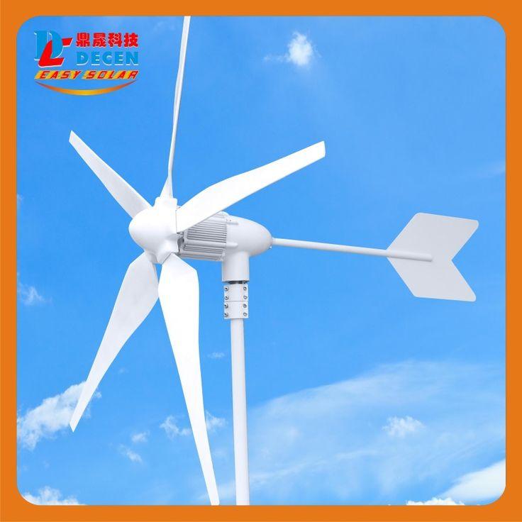 600 Вт Высокая эффективность wind generator Small size Low weight. низкий уровень шума Простота установки 5 лопастей сертификат СЕ