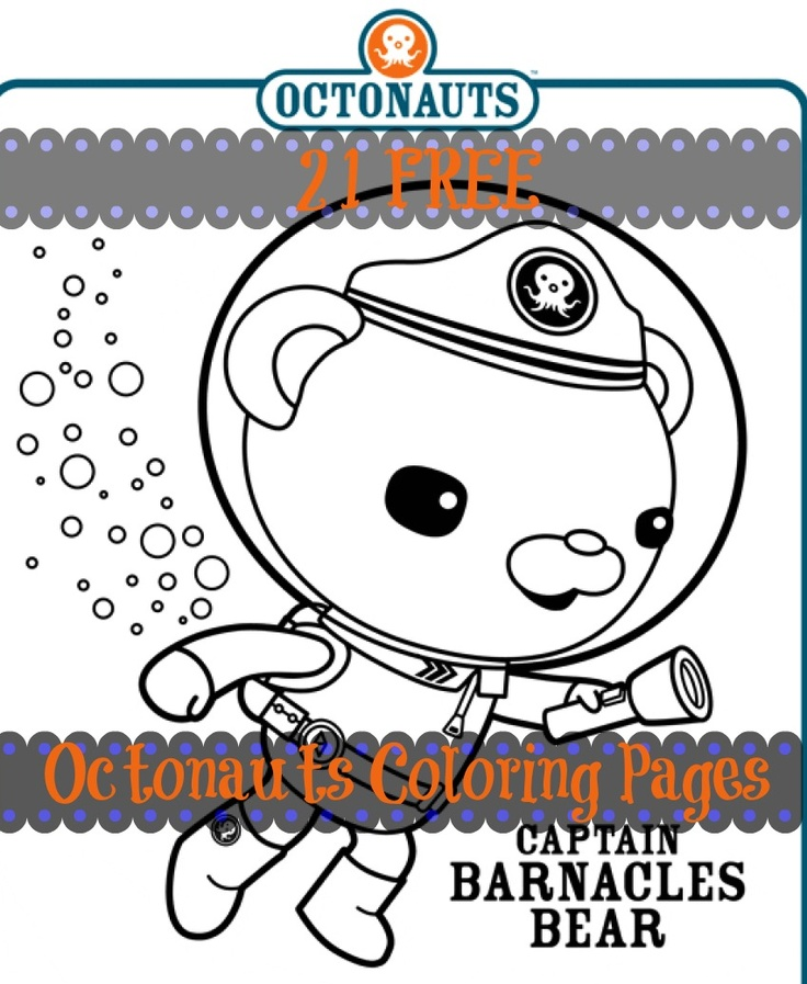 FREE Octonauts coloring pages (21 of them!). Just print and enjoy!
