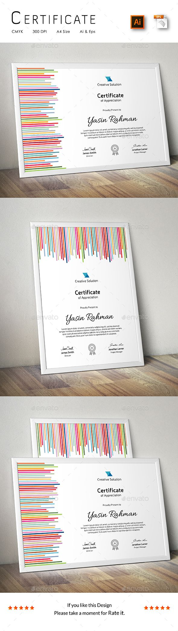 Buy Certificate By CreativeRacer On GraphicRiver. A Great Creative Certificate  Template For Creative Person. Features: Easy To Edit CMYK Color 300 DPI  High ...