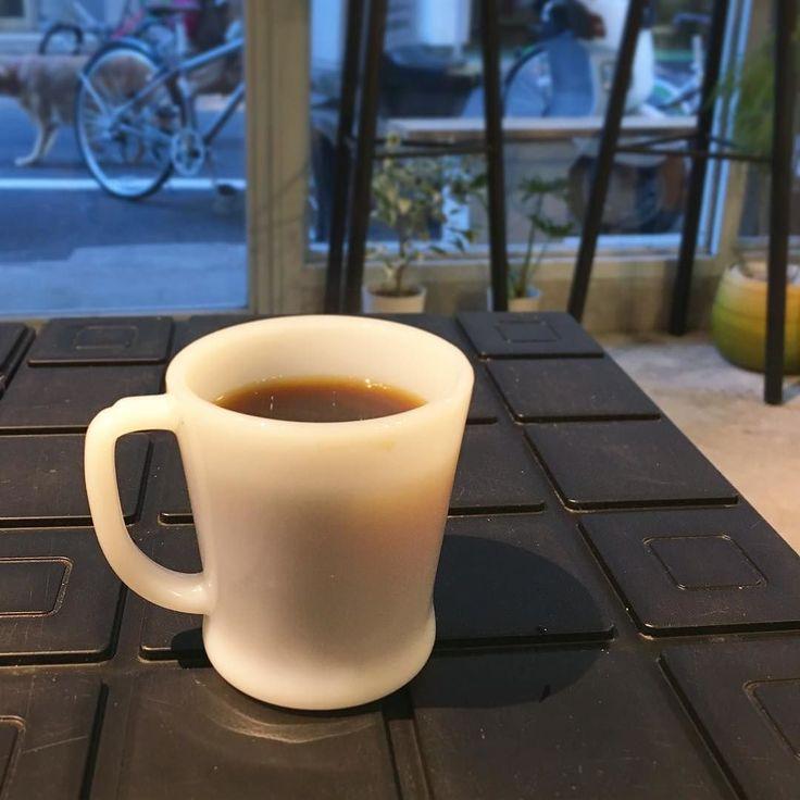 本日のコーヒー(ブラジル) ロータリーは初めて先月1周年を迎えたそうです #ソルズコーヒーロータリー  #コーヒー #珈琲 #カフェ #cafe #蔵前