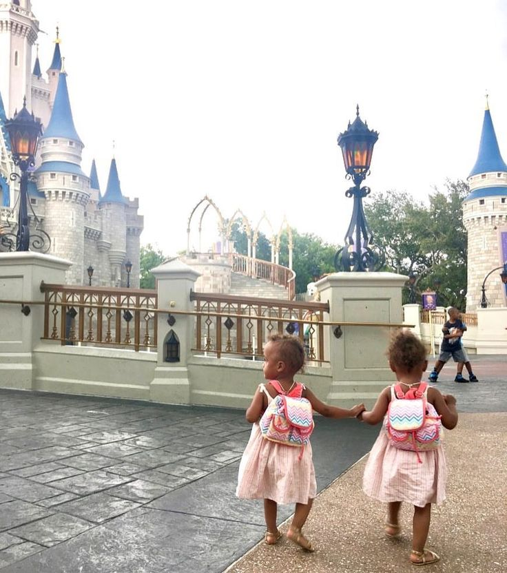 The Mocha Twins taking over Disneyworld...and those backpacks are my fav