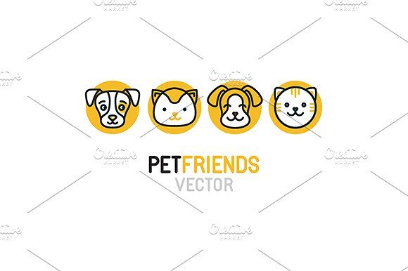 Pet logos, icons and patterns by venimo on @creativemarket