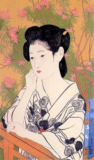 Goyo Hashiguchi | hanga gallery . . . torii gallery: Hot Springs Inn by Hashiguchi Goyo