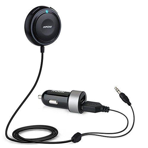 Mpow Streambot One récepteur audio bluetooth musique stéréo kit main libre bluetooth 4.0 voiture/ pour voiture soutien commande…