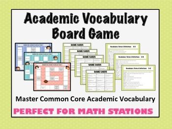 This game will help students MASTER ACADEMIC VOCABULARY and perform well on standardized tests.