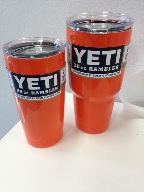 Yeti 30 oz Rambler Orange