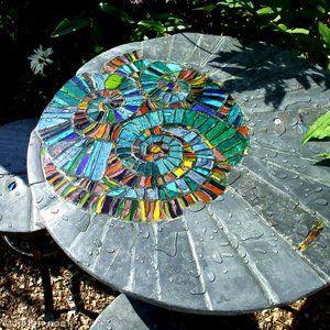 Garden furniture: Ammonite patio set