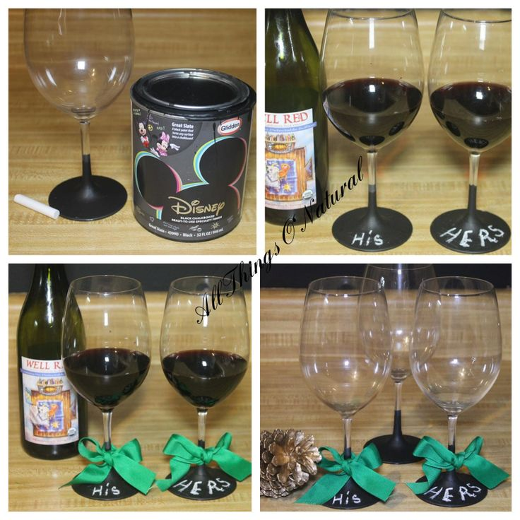Chalkboard Painted Wine Glasses Excellent Party Favors At