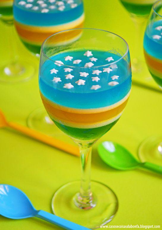 Receitinhas para a Festa da Copa: gelatina campeã