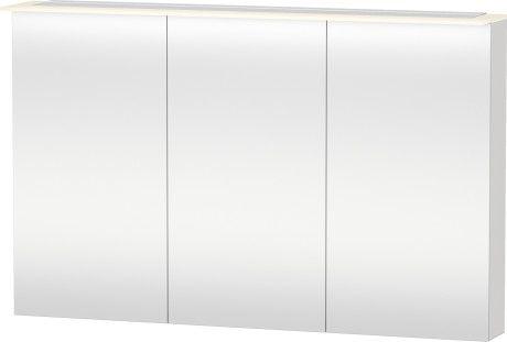 X-Large Armadietto a specchio #XL7596 | Duravit 3 ante a specchio, parete posteriore interna a specchio, 4 ripiani in vetro (trasparente), 1 interruttore a sensore sotto a dx, 1 presa di corrente con coperchio, LED (durata >30.000 ore), diodi fissi, classe di efficienza energetica: A+, modulo LED 3500 Kelvin di temperatura di colore, 31 W 2370 euro