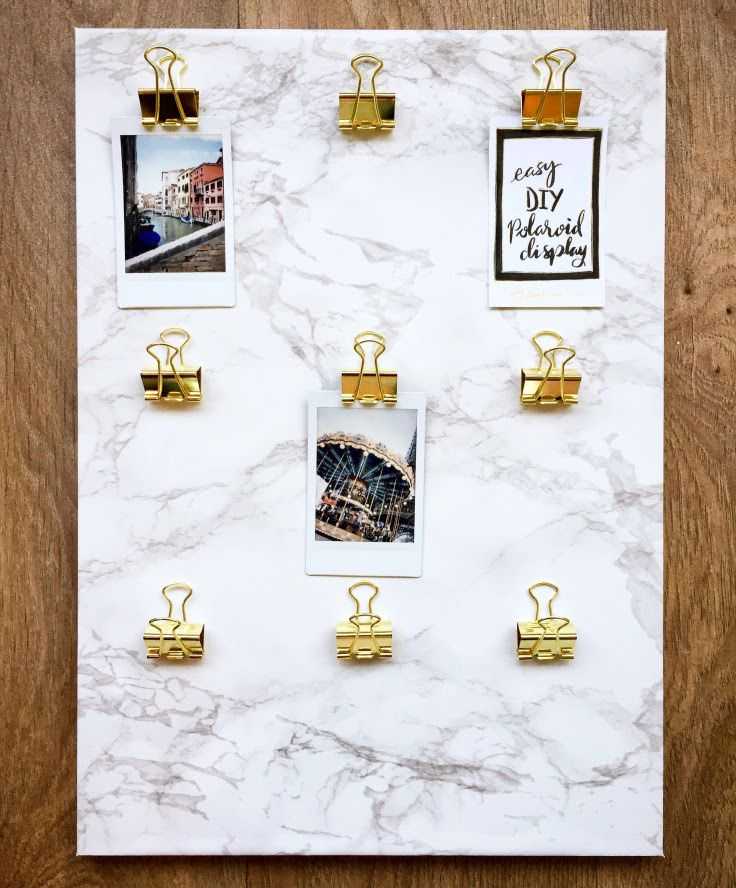 DIY Marble Polaroid Clips Display – Surely Simple