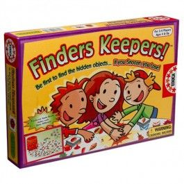 Finders Keepers Find Hidden Objects Game - Educational Toys Planet. Great gift for 4 years old child. Be the first to find the hidden objects and you win this fun Educa Finders Keepers game for kids. Develops Skills - matching skills, quick thinking, memory skills, communication skills, observation skills. #toys #learning #educational #gifts #child https://www.educationaltoysplanet.com/finders-keepers-find-hidden-objects-game.html