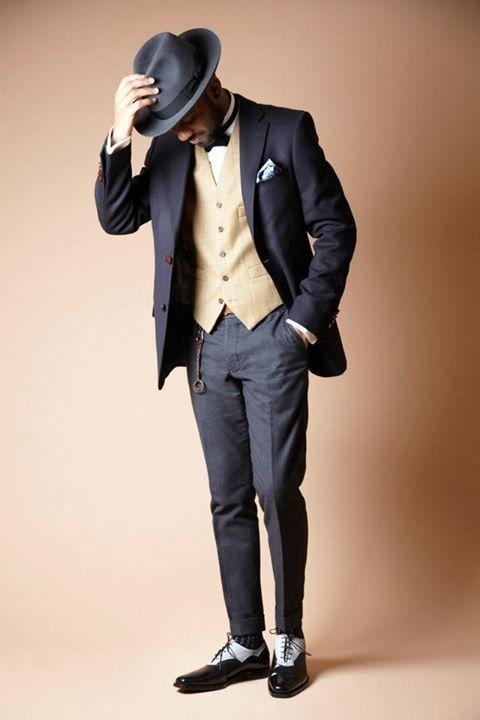 Superb elements! #pocketsquare #waistcoat #menswear