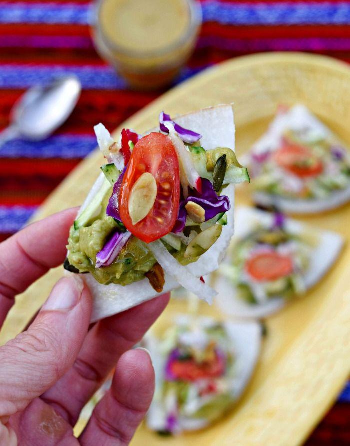 Raw Vegan Jicama Nachos, Freezing Guacamole and Cinco de Mayo Sippers - thefitfork.com