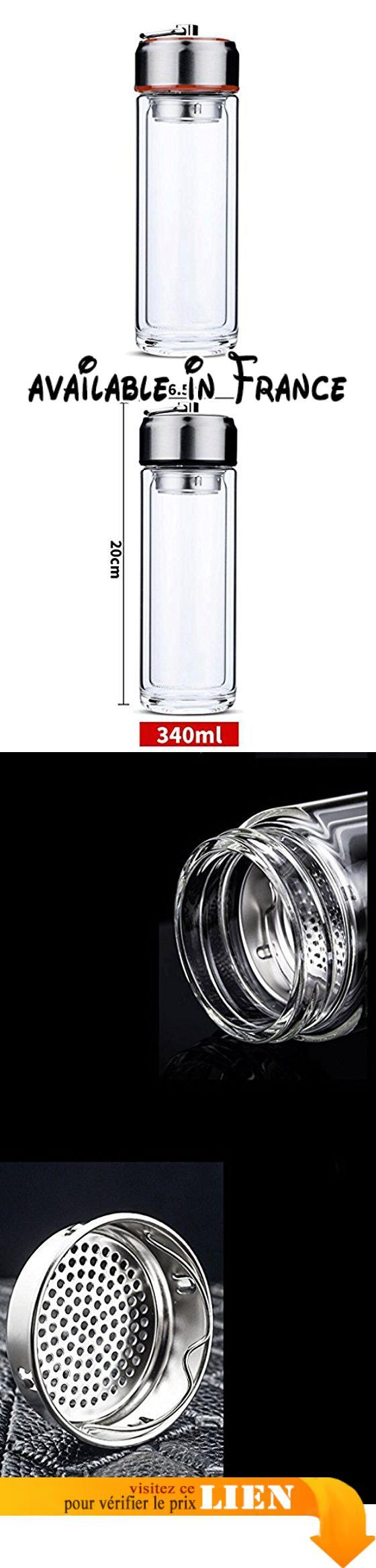 B077HSFZW3 : ZHAOJING Coupe en verre résistant à la chaleur à double couche Cupless personnalité Transparent personnalité épaissie Cup Cup isotherme pour hommes ( Couleur : Rouge ). Conception de tasse épaisse d'arc lèvre adaptée conception de bague intérieure de silicone de catégorie comestible bonne étanchéité aucune fuite. Conception de base creuse épaisse pour améliorer le sens de la dureté et la conception du verre solide antidérapant endroit