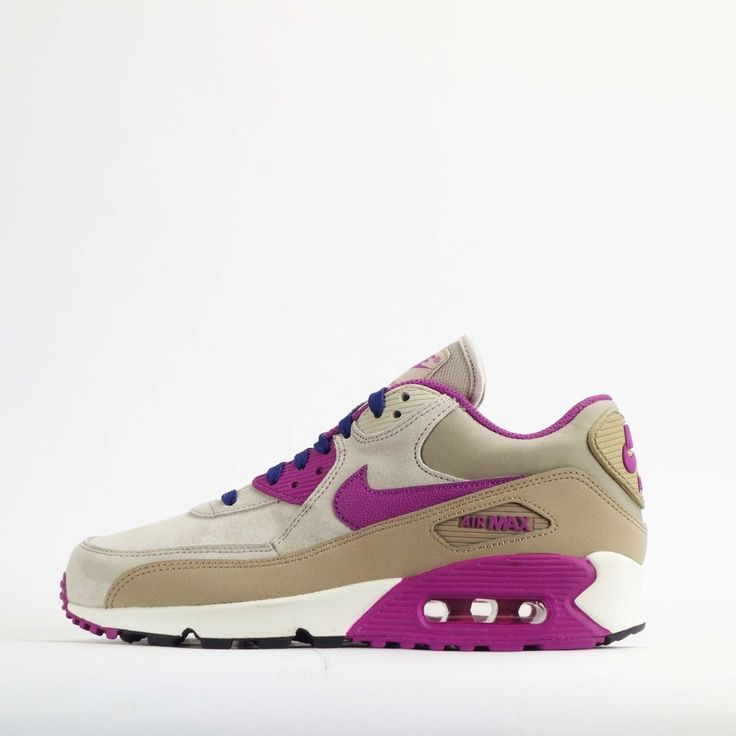 Nike Air Max 90 Womens Trainers Shoes in Beige #Nike #CasualTrainers