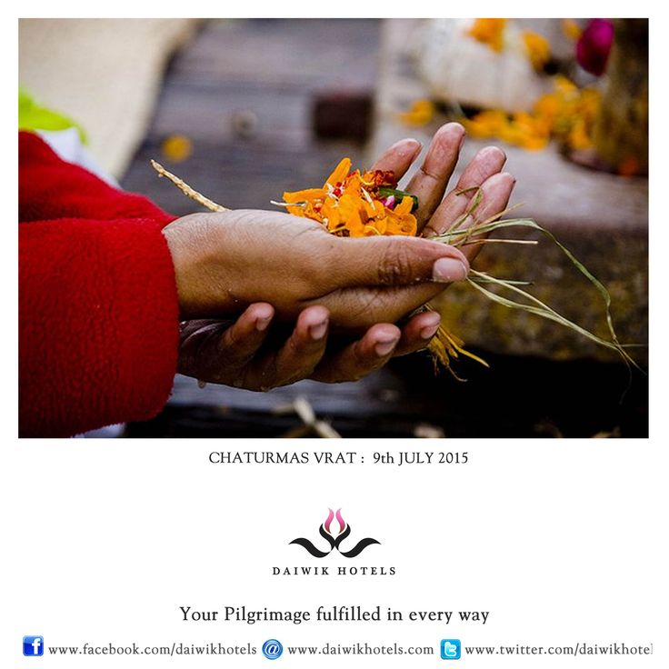 CHATURMAS VRAT. 9TH JULY 2015. Chaturmas are the four holiest months of the Hindu calendar and include Shravan, Bhadrapad, Ashvin and Kartik. As it is said that Lord Vishnu sleeps during this time this period is called the night of the god. Chaturmas will end on Prabhodini ekadashi. During this time devotees fast, pray, recite shlokas from holy books, visit temples and give in charity.