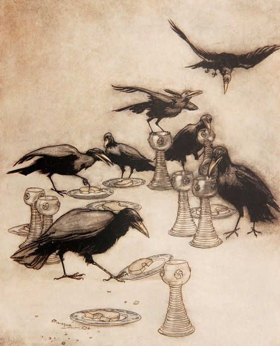 Arthur Rackham – Fairy Tales of the Brothers Grimm, 1909 edition.