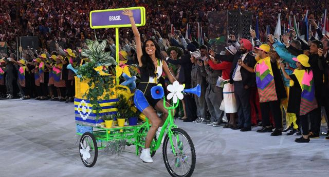 Lea T made history as part of the Rio opening ceremony on Friday (Image; Getty - under licence)