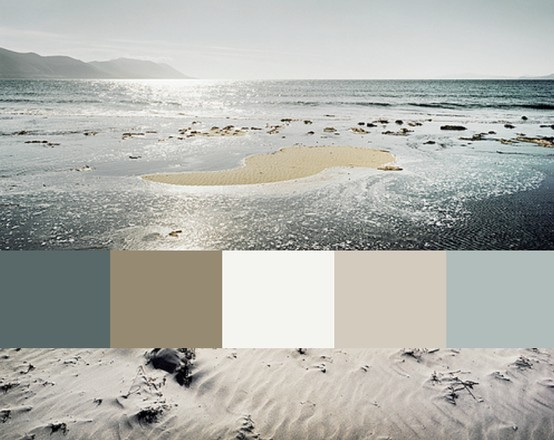 Sfeerbeeld kleurenpalet vakantiegevoel. Uitbreiden met accentkleur om spannende twist te geven. Nu nog te voor de hand liggend