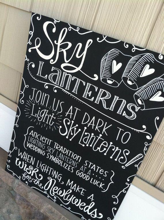 Handwritten 20x24 Sky Lanterns Sign