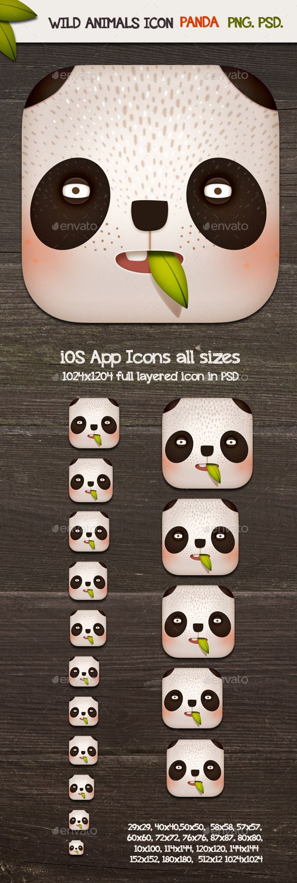 Panda  App Icons — Photoshop PSD #mobile #flat • Available here → https://graphicriver.net/item/panda-app-icons/11329637?ref=pxcr