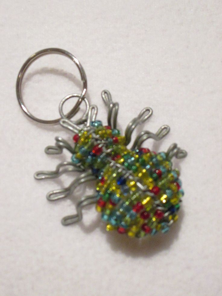 beadwork key ring #15