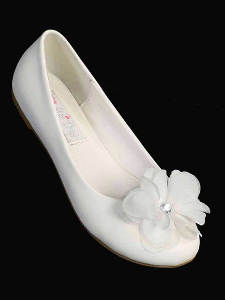 30 best all about flower girls and the little boys images on lovely chiffon floral accent ballet slipper sizes 5 youth 4 in off white or ivory girls shoes shoes mightylinksfo