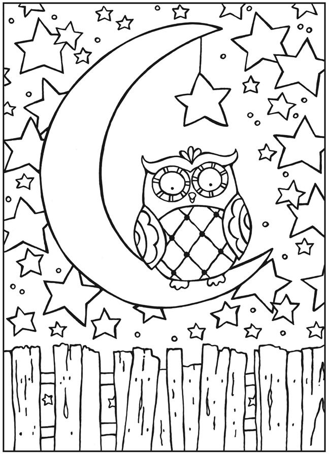 129 best Coloring pages images on Pinterest Coloring books, Adult - copy baby owl coloring pages for adults