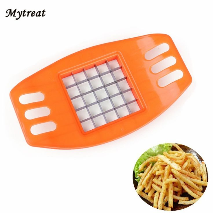 Potato Chip Cutter Maker 1 Pcs Stainless Steel Potato Cutting Device Vegetable Square Slicer French Fry Cutters Reusable Tools #Affiliate