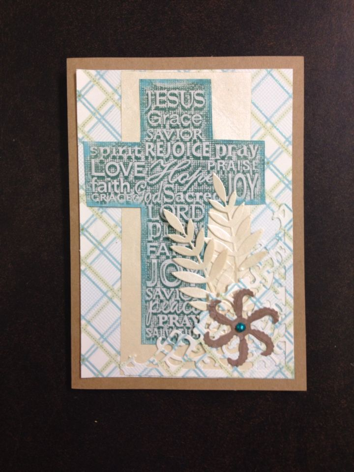 Darice embossing folder  Cross with words. 1218-49