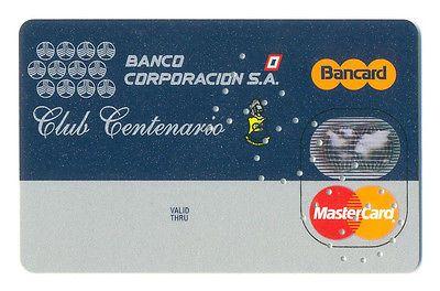 PARAGUAY, BANCO CORPORACION S.A.BANCO COR MASTERCARD CREDIT CARD SPECIMEN , 2/95  http://cgi.ebay.com/ws/eBayISAPI.dll?ViewItem&item=161226025157