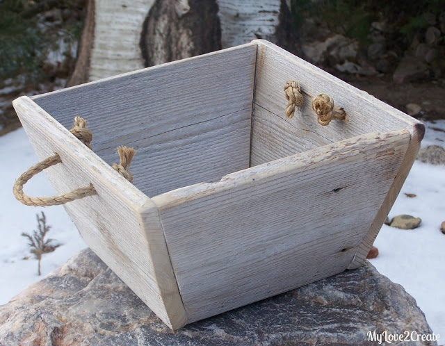 made from old fence boards...