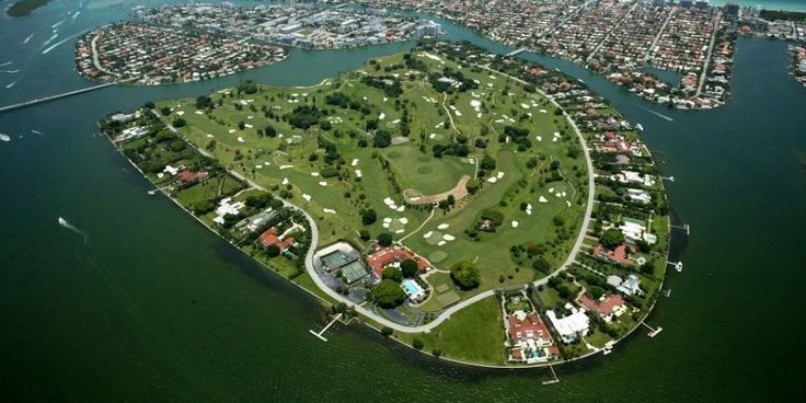 """The Most Expensive Street In America - """"Billionaire Bunker"""" - Indian Creek Island Road on Indian Creek Island in Florida"""
