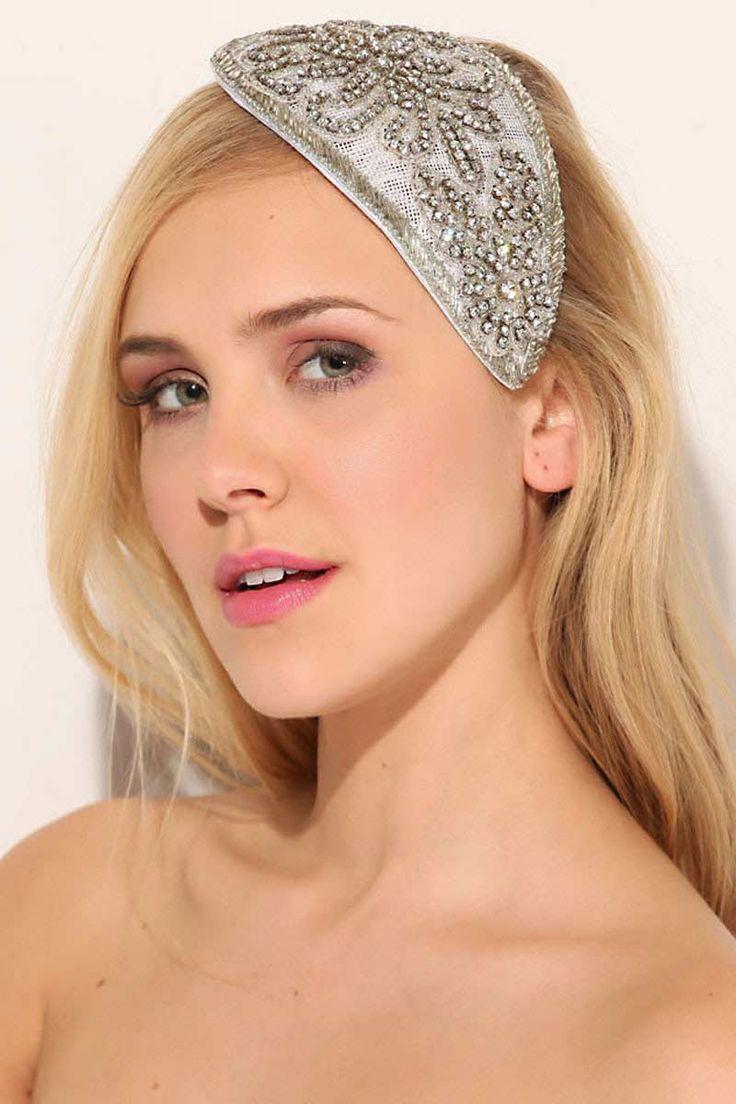 Wicked by Ipek Yaylacioglu Bridal millinery hats & hair accessory Swarovski teardrop hat