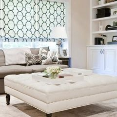 contemporary ottomans and cubes by Lux Decor - I want a giant tufted coffee table