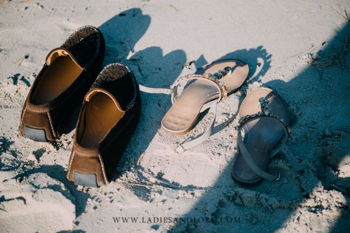 shoes in sand - engagement session Mallorca by Ladies & Lord