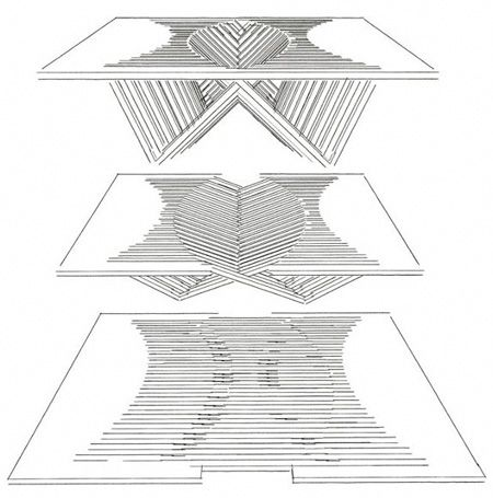 Collapsable table. Goes from flat to cool.