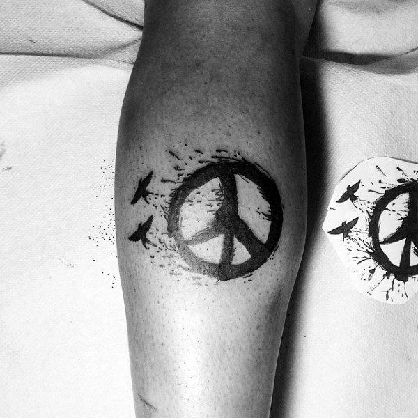 70 Peace Sign Tattoos For Men – Symbolic Ink Design Ideas