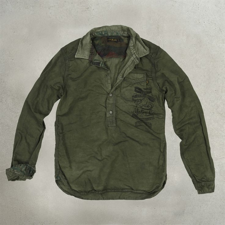 Rude Riders Hollywood Rude Motor Co Shirt Military