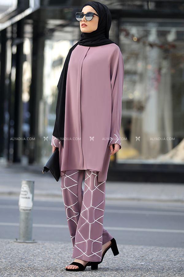 Gul Kurusu Eliza Ikili Takim Pn13173 Alyadua Moda Stilleri Basortusu Modasi Kiyafet