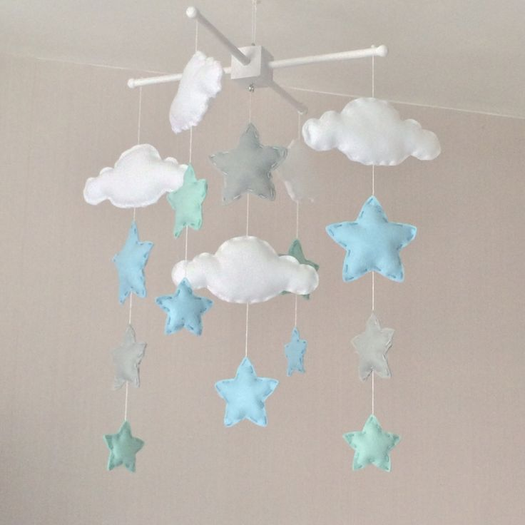 Baby Mobile Cot Mobile Clouds And Stars Cloud Mobile