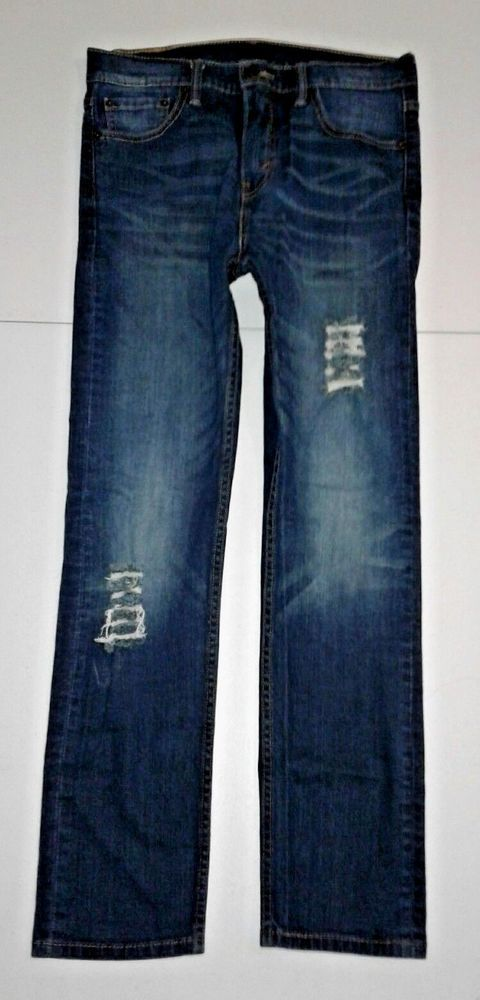 Mens Levis 510, 30x28, Skinny FIt, Stretch, Red Tab, Destroyed Jeans #Levis #SlimSkinny