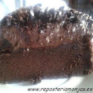 Tarta de chocolate en tres texturas