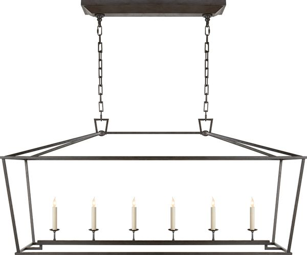 Kitchen Island With Darlana Chandelier: DARLANA LINEAR PENDANT