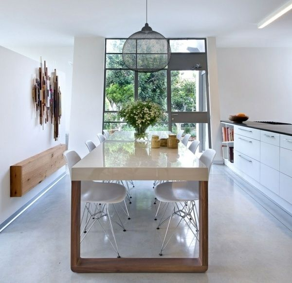 Esstisch Holz Esszimmer Einrichtung Ideen