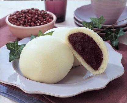 호빵 (HoBbang) Korean sweet red-bean filled steamed bun ...