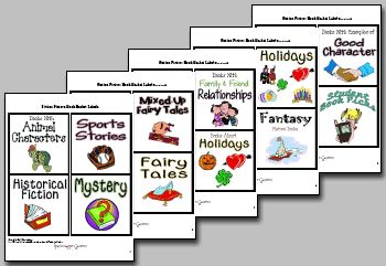 PRINTABLE Book Basket Labels - Organize your classroom library with these incredibly engaging and attractive labels